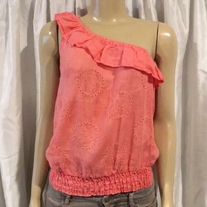 EXPRESS Off The Shoulder Coral Top